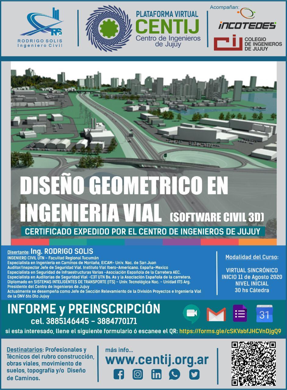 Curso de DISEÑO GEOMÉTRICO DE CAMINOS ASISTIDO POR PC